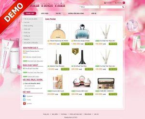 Thiết kế web kinh doanh mỹ phẩm