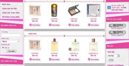Thiết kế website shop mỹ phẩm