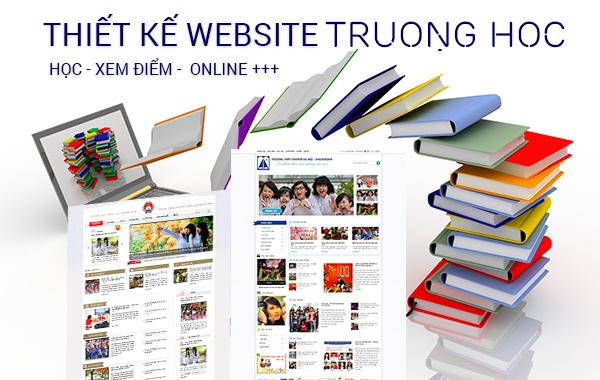 thiet ke website gioi thieu truong hoc