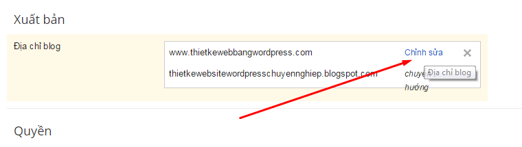 chinh sua dia chi trong blogspot