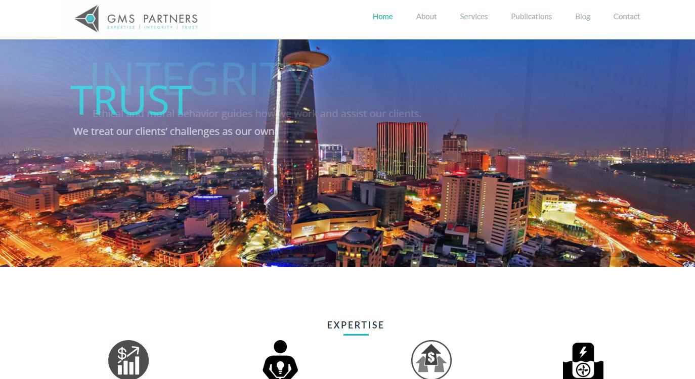 Mẫu website giới thiệu công ty GMS và cộng sự