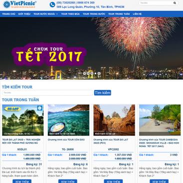 Mẫu website du lịch bán tour bằng wordpress
