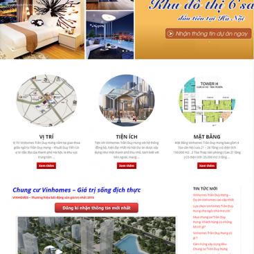 Mẫu website dự án vinhome trần duy hưng