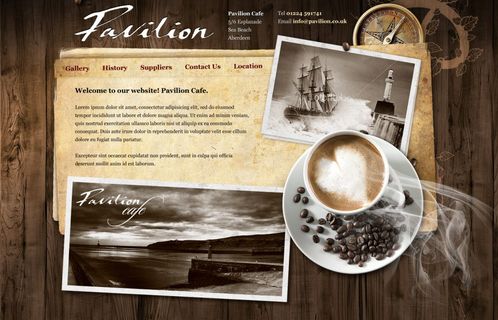 Thiết kế web bán cafe
