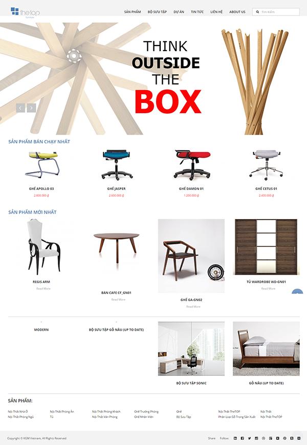 Thiết kế website cửa hàng nội thất quận 7