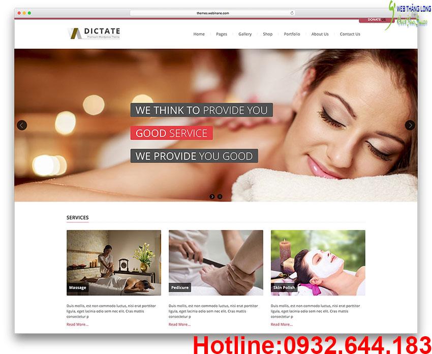 Thiết kế web spa thẩm mỹ viện