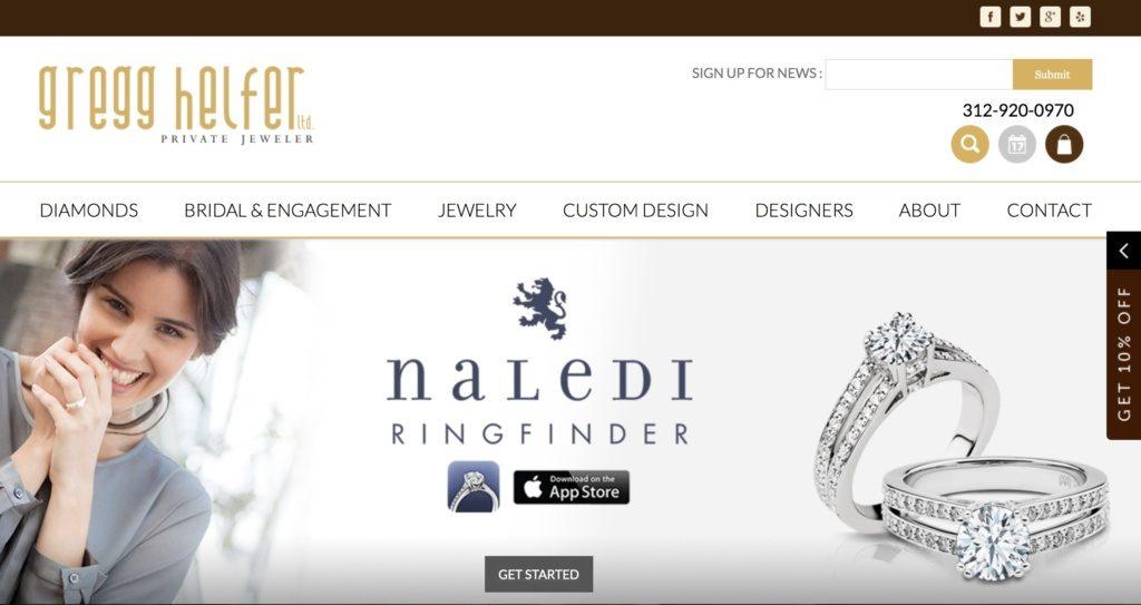 Thiết kế website shop trang sức