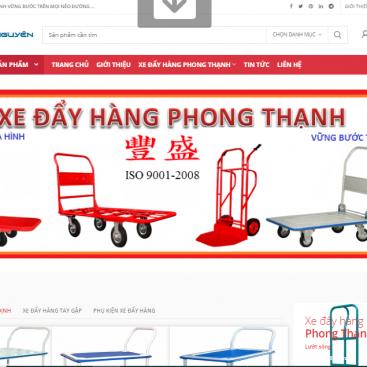 Mẫu website bán hàng xe đẩy hàng